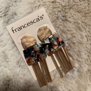 Francesca's Enamel Earrings